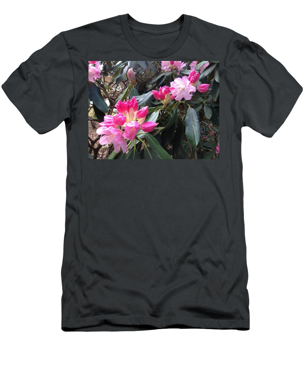 Pink Men's T-Shirt (Athletic Fit) featuring the photograph Rhododendron by Pema Hou