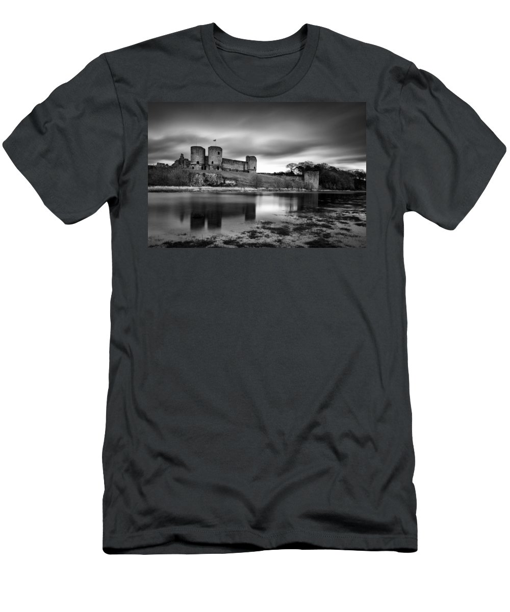 Rhuddlan Castle Men's T-Shirt (Athletic Fit) featuring the photograph Rhuddlan Castle by Dave Bowman