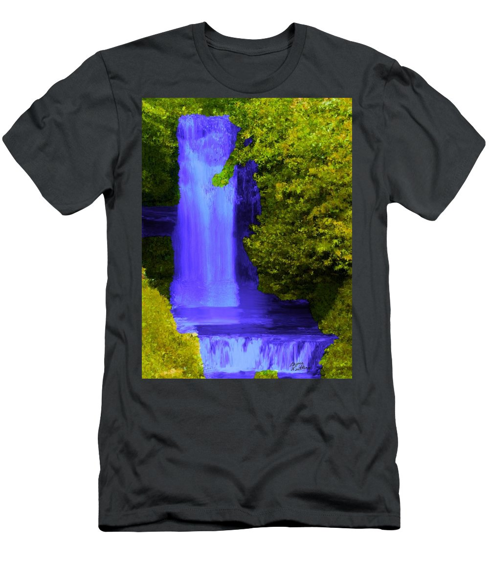 Purple Men's T-Shirt (Athletic Fit) featuring the painting Rich Purple Wateful In The Spring by Bruce Nutting