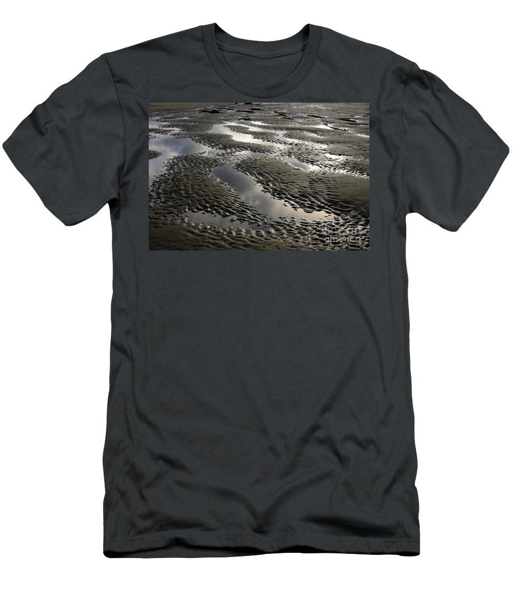 Bandon Men's T-Shirt (Athletic Fit) featuring the photograph Rippled Sand by John Shaw