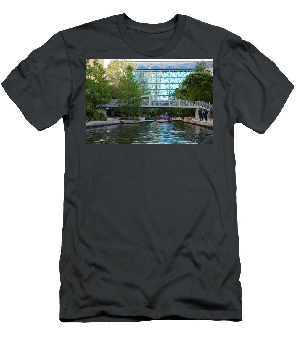 Architecture Men's T-Shirt (Athletic Fit) featuring the photograph River Boating by Shawn Marlow
