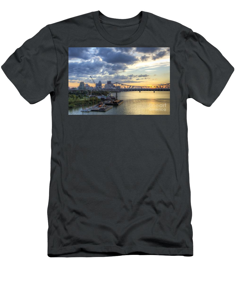 High Men's T-Shirt (Athletic Fit) featuring the photograph River City - D008587 by Daniel Dempster