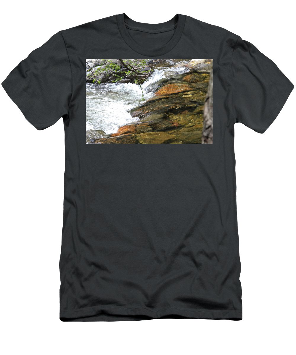 Nature Men's T-Shirt (Athletic Fit) featuring the photograph River Flow by Noa Mohlabane