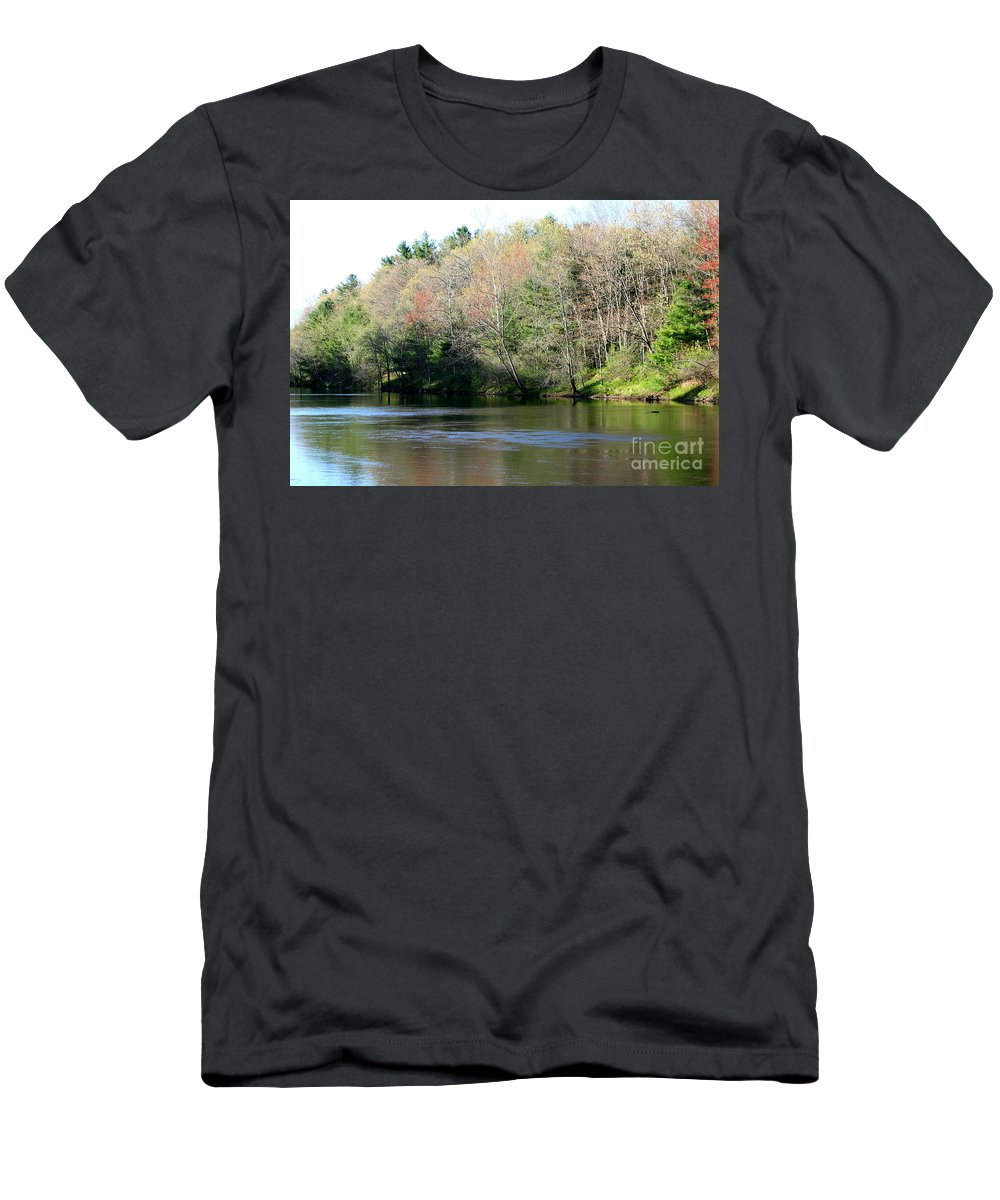 River Men's T-Shirt (Athletic Fit) featuring the photograph River Wind by Neal Eslinger
