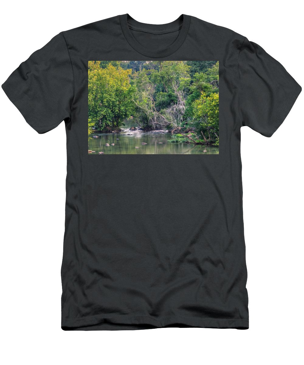 Background Men's T-Shirt (Athletic Fit) featuring the photograph Riverwalk Park by Rob Sellers