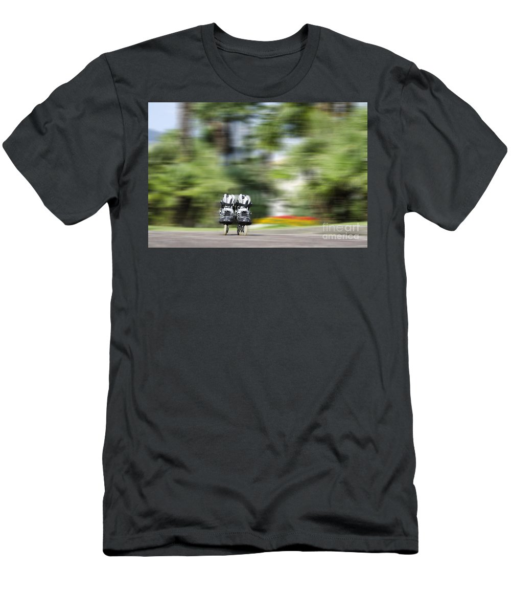 Rollerblade Men's T-Shirt (Athletic Fit) featuring the photograph Rollerblade by Mats Silvan