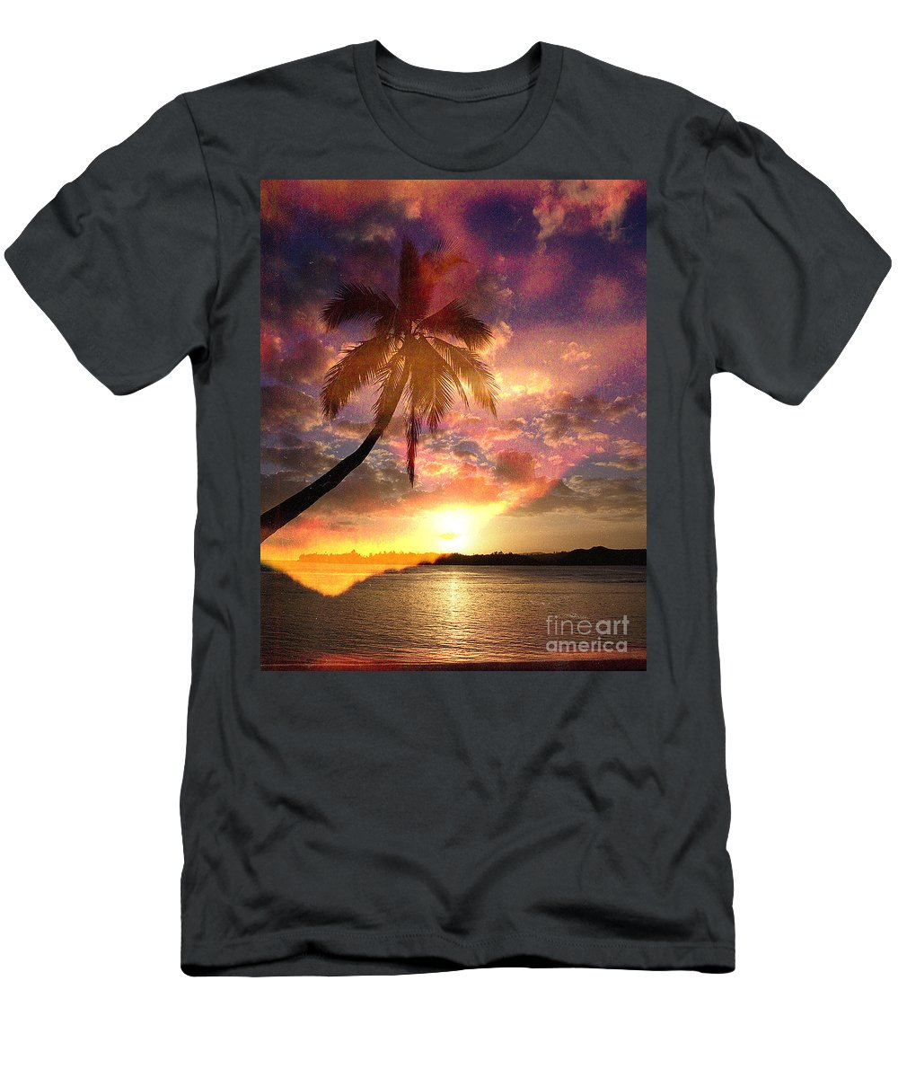 Landscape Men's T-Shirt (Athletic Fit) featuring the digital art Romance by Yael VanGruber