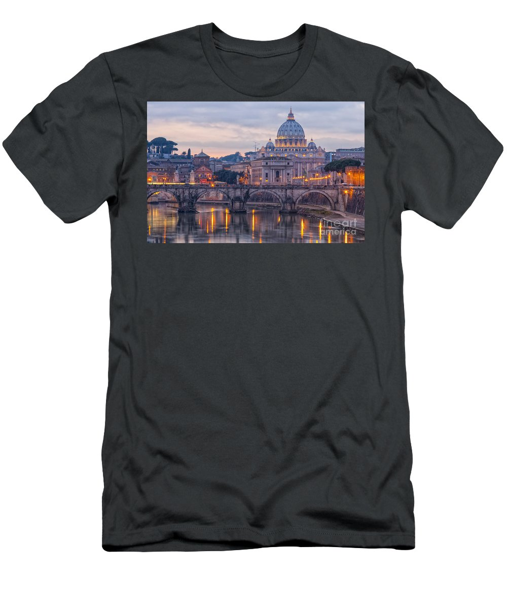 Rome Men's T-Shirt (Athletic Fit) featuring the photograph Rome Saint Peters Basilica 01 by Antony McAulay