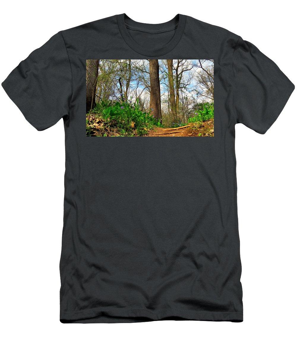 Elder Men's T-Shirt (Athletic Fit) featuring the photograph Root Steps by Art Dingo