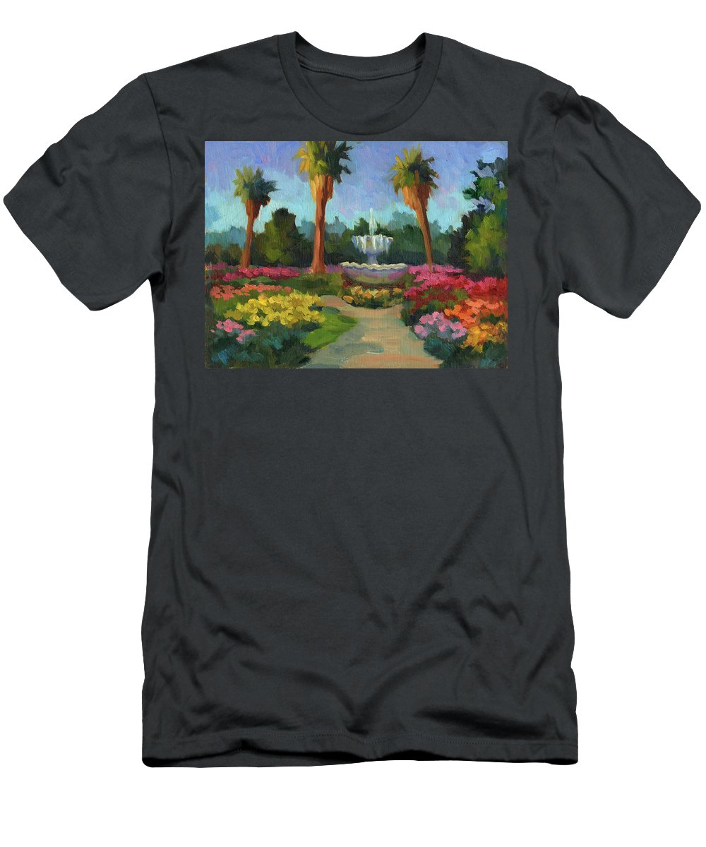 Rose Garden Men's T-Shirt (Athletic Fit) featuring the painting Rose Garden by Diane McClary