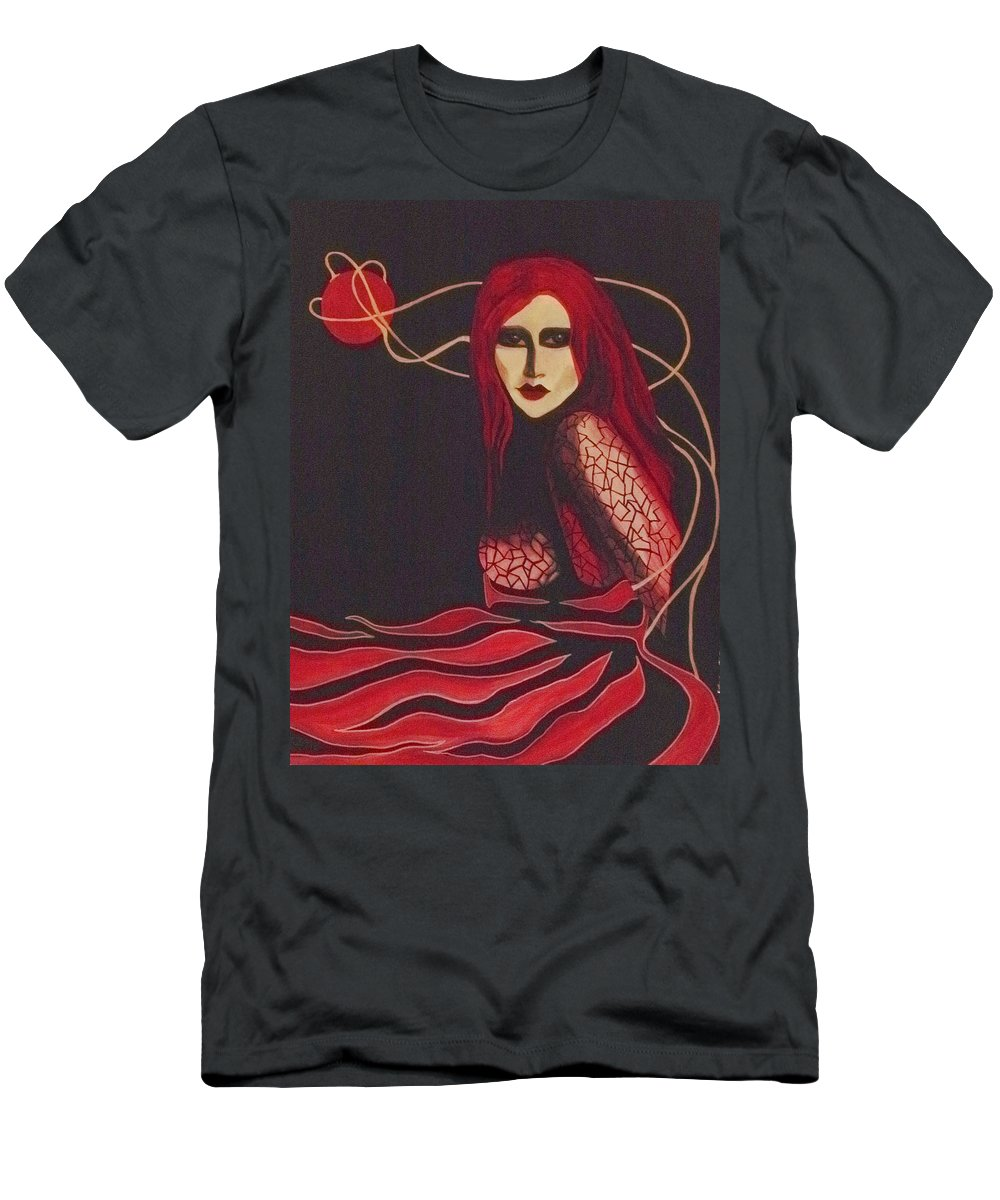 Women Men's T-Shirt (Athletic Fit) featuring the painting Unravel by Carolyn LeGrand