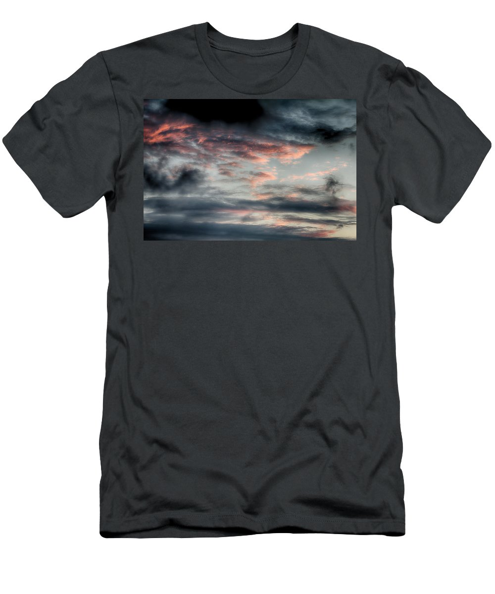 June Men's T-Shirt (Athletic Fit) featuring the photograph Rosy Clouds by Leah Palmer