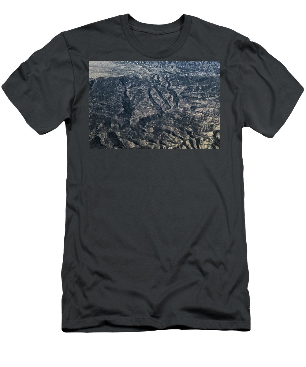 Hills Men's T-Shirt (Athletic Fit) featuring the photograph Rough Country by Rich Franco