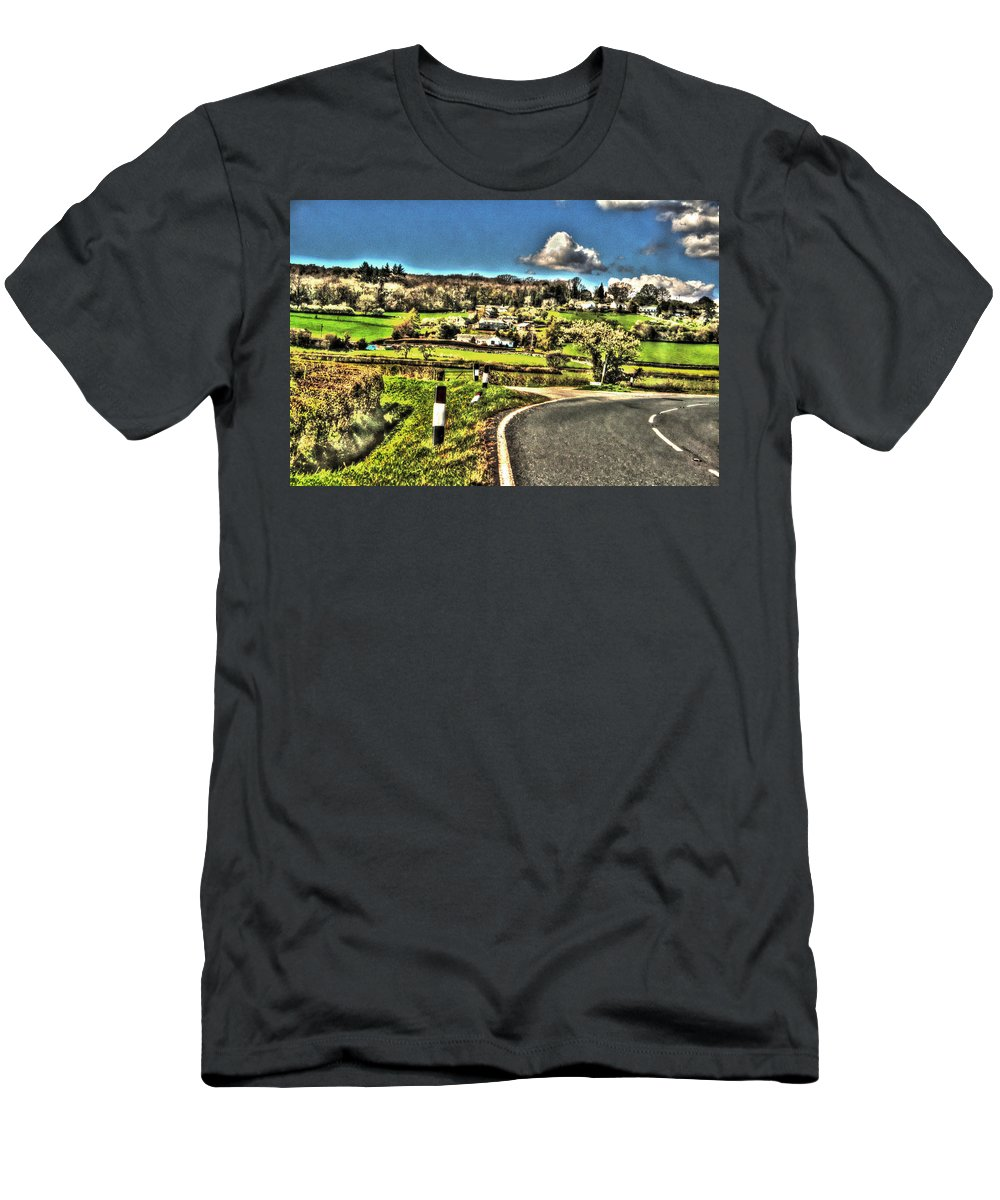 Road Men's T-Shirt (Athletic Fit) featuring the photograph Round The Bend by Doc Braham