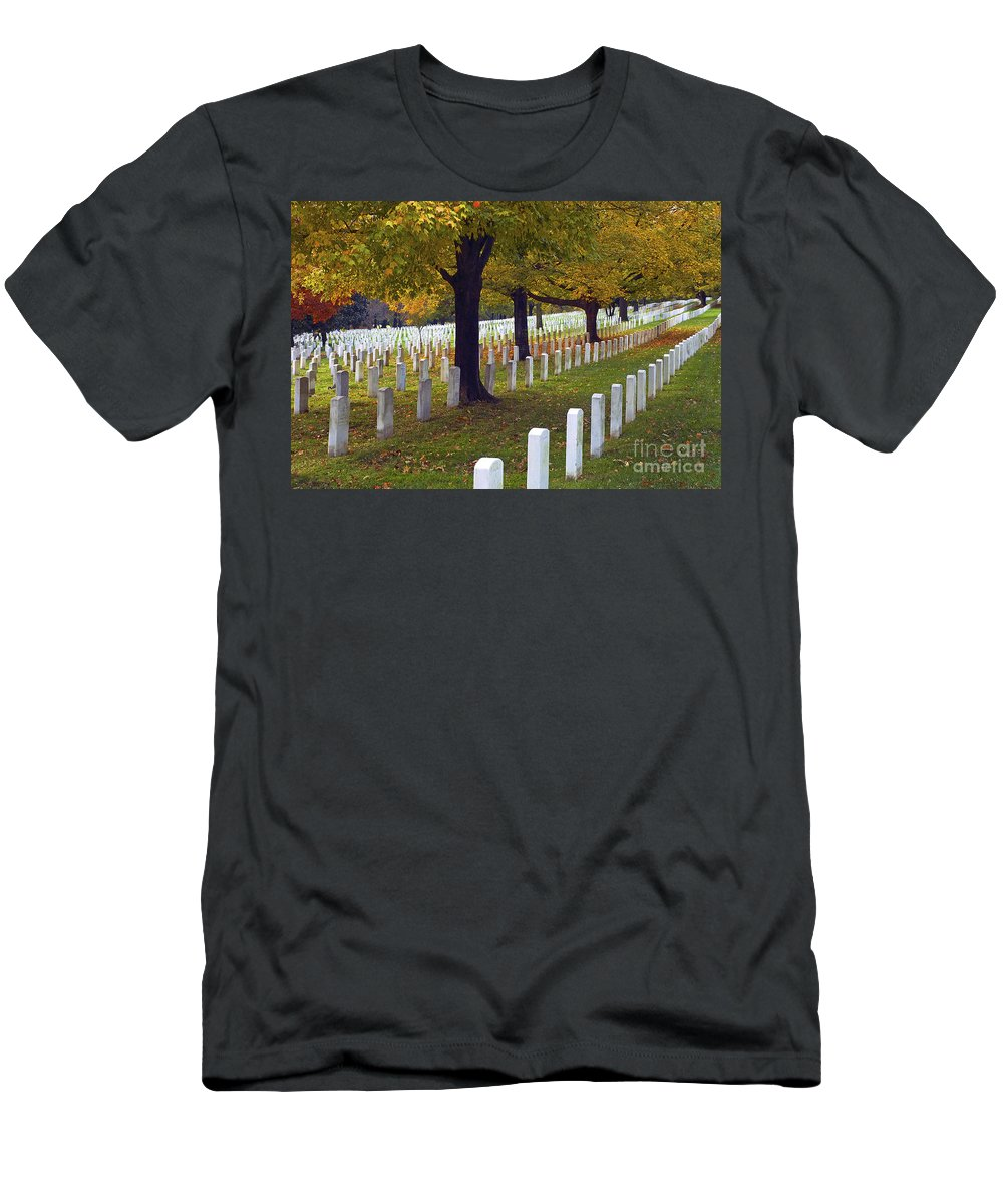 Arlington Men's T-Shirt (Athletic Fit) featuring the photograph Rows Of White by Paul W Faust - Impressions of Light