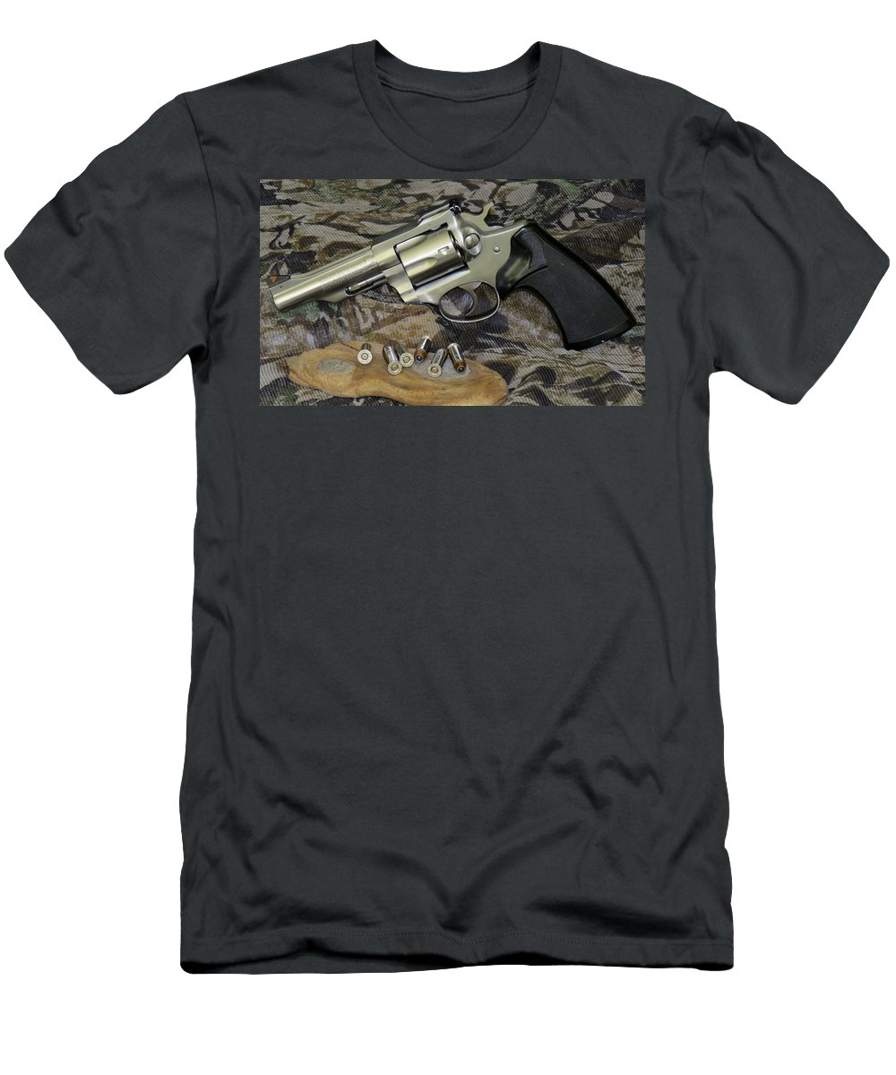Ruger Men's T-Shirt (Athletic Fit) featuring the photograph Ruger Security Six Still Life by Kent Dunning
