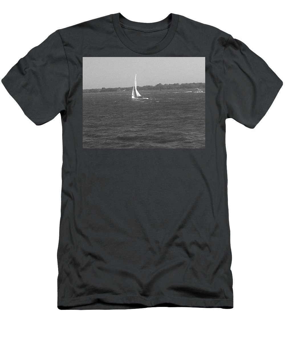 Charleston Men's T-Shirt (Athletic Fit) featuring the photograph Sailboat by Mary Koval