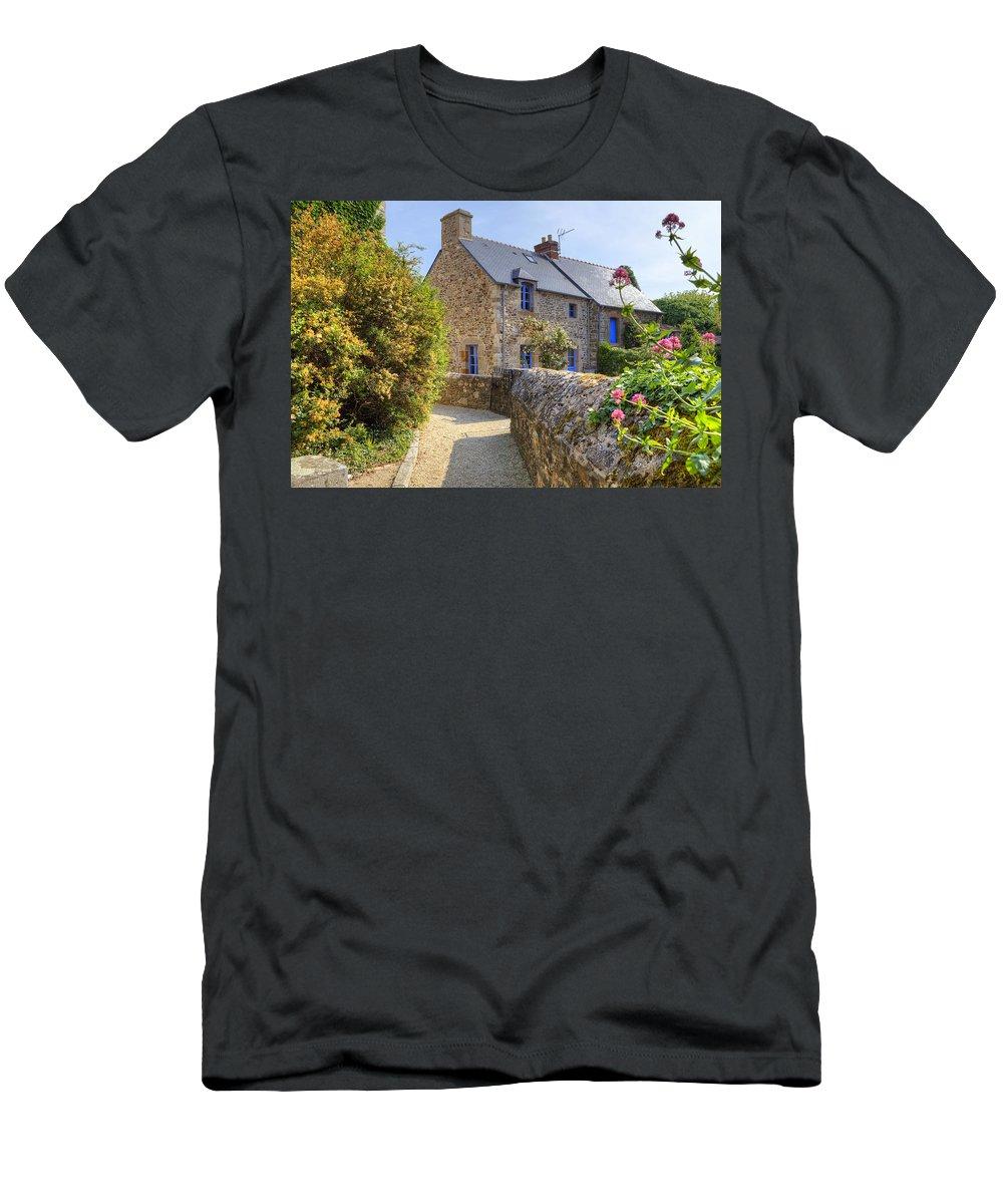 Saint-suliac Men's T-Shirt (Athletic Fit) featuring the photograph Saint-suliac - Brittany by Joana Kruse