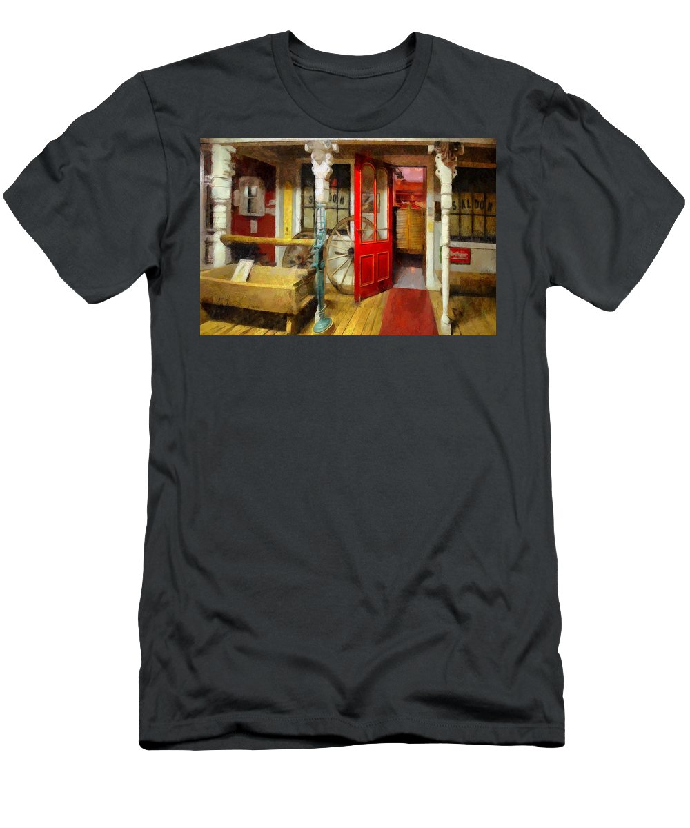 Saloon Men's T-Shirt (Athletic Fit) featuring the painting Saloon by L Wright