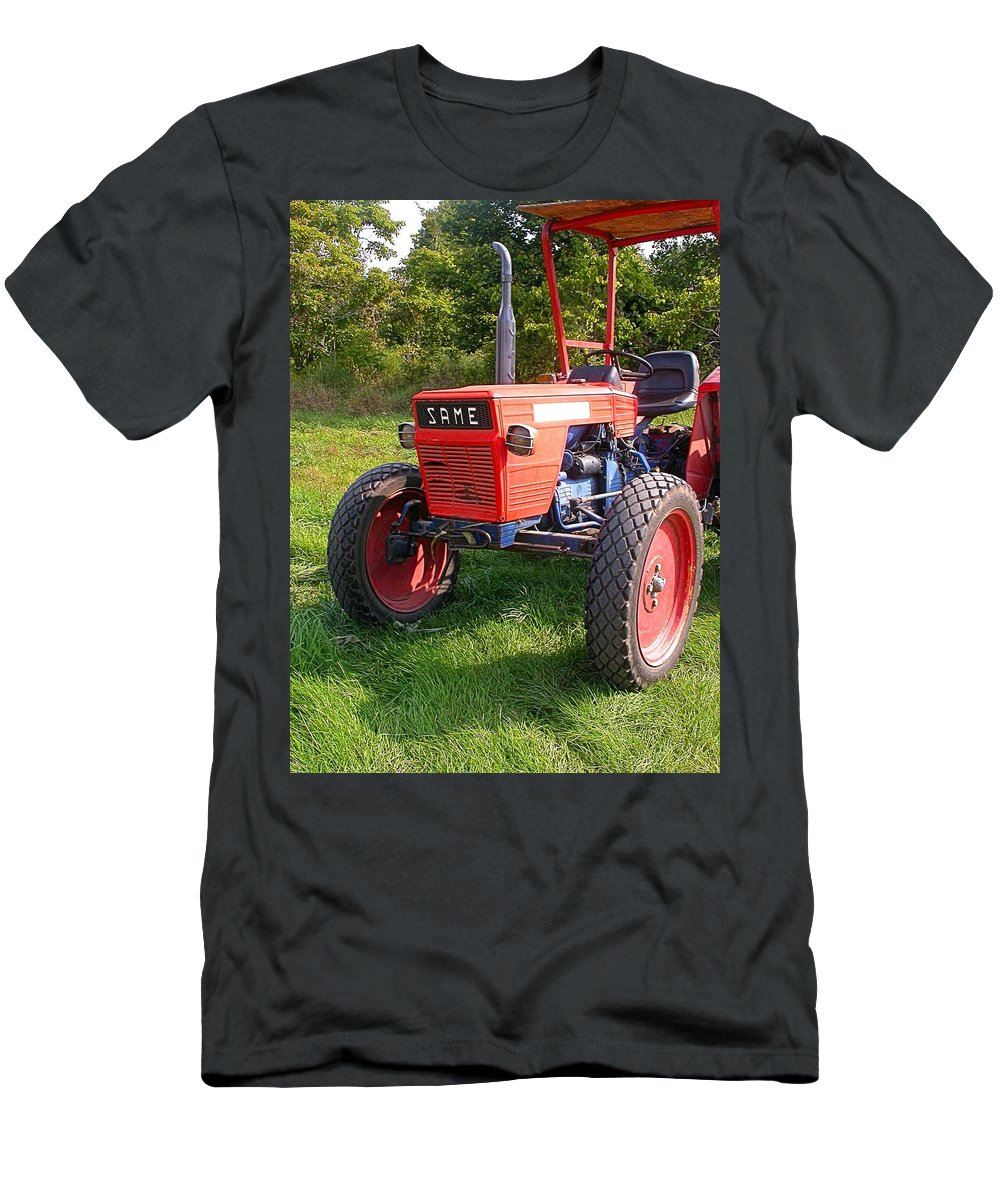 Farm Tractor Men's T-Shirt (Athletic Fit) featuring the photograph Same by Cynthia Wallentine