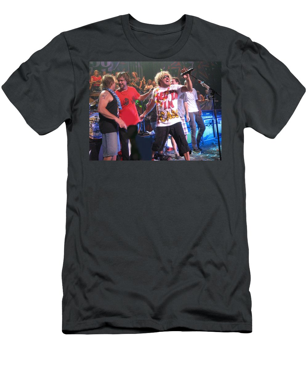 Sammy Hagar Men's T-Shirt (Athletic Fit) featuring the photograph Sammy Hagar And The Wabos Cabo Wabo by Sheryl Chapman Photography
