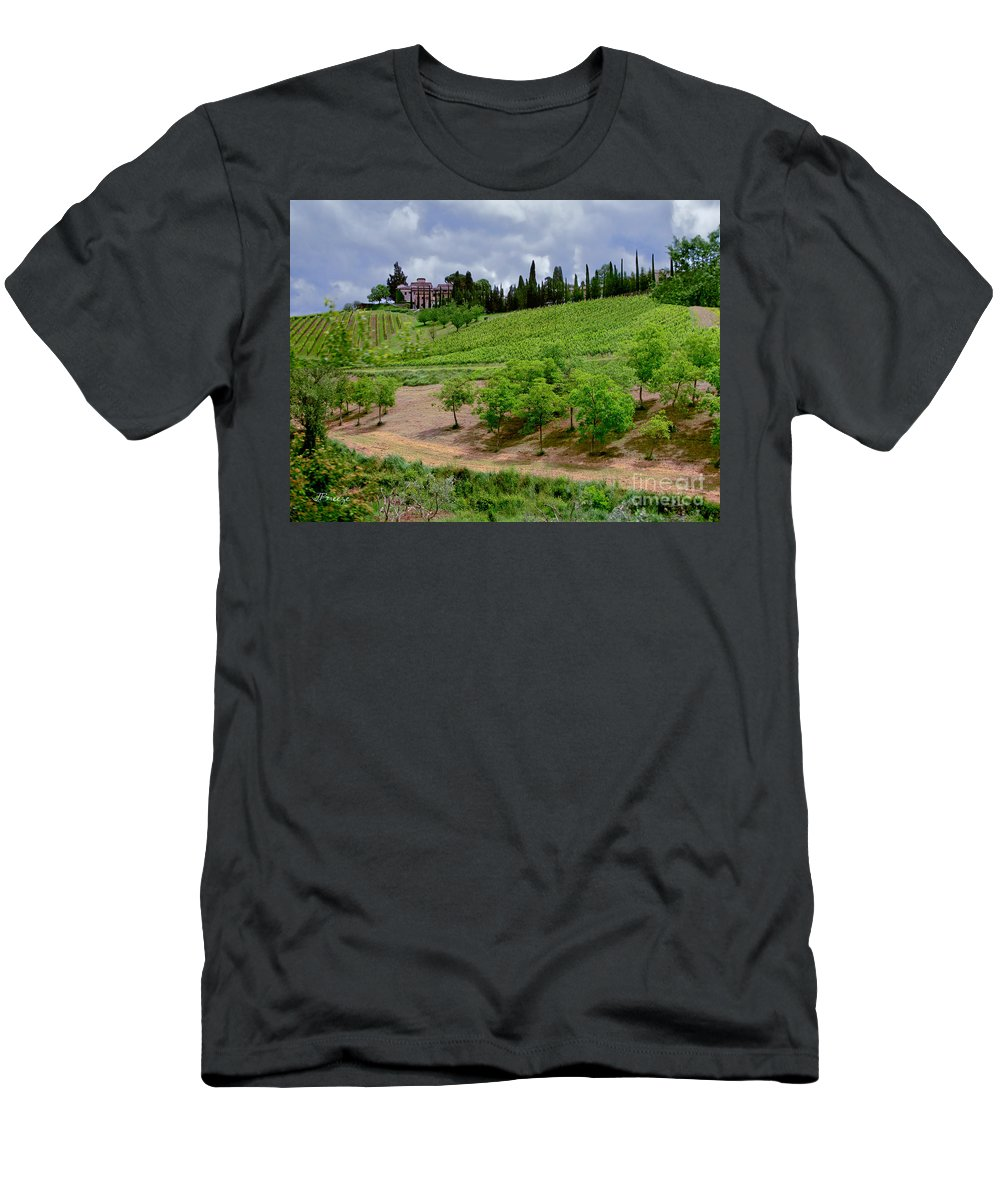 San Casciano In Val Di Pesa Men's T-Shirt (Athletic Fit) featuring the photograph San Casciano In Val Di Pesa- Italy by Jennie Breeze