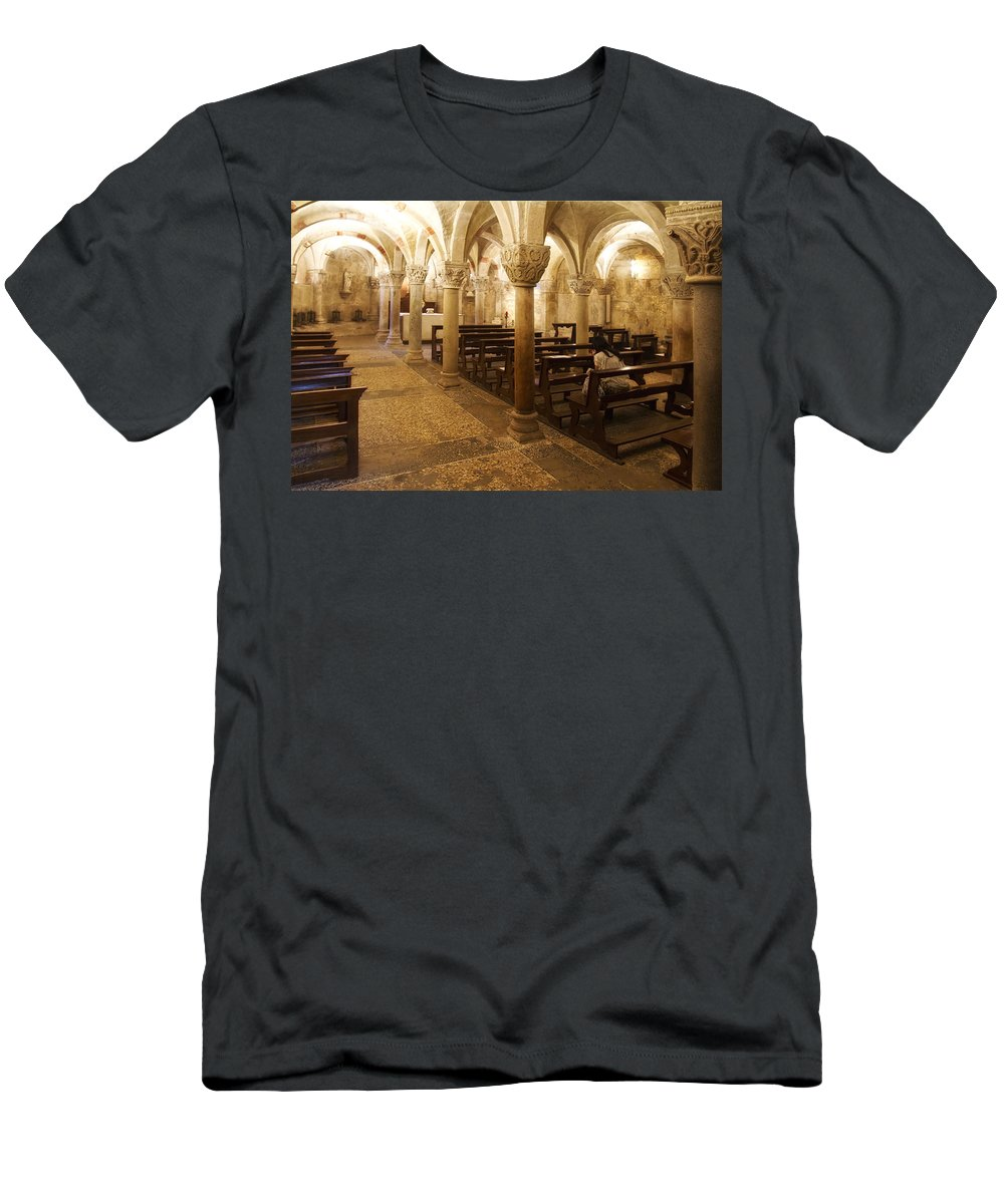 Architecture Men's T-Shirt (Athletic Fit) featuring the photograph San Michele Chapel by Roberto Pagani