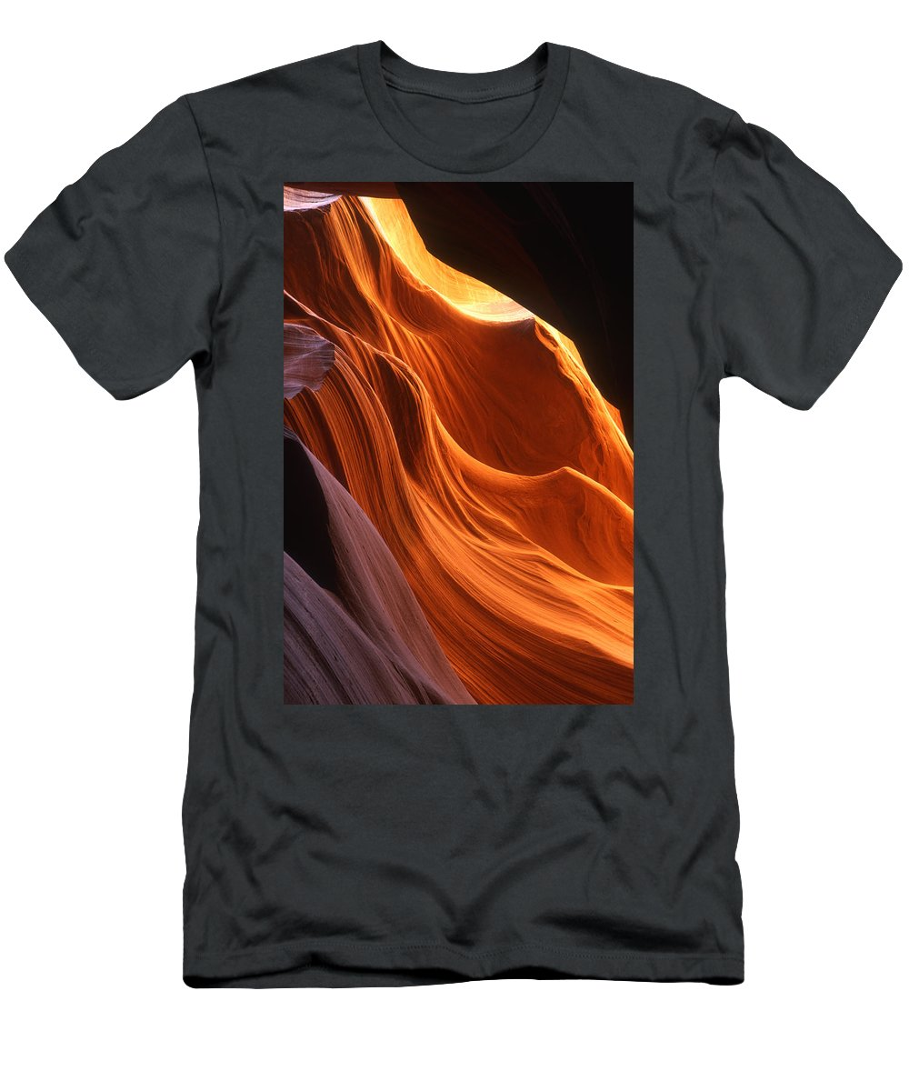 Feb0514 Men's T-Shirt (Athletic Fit) featuring the photograph Sandstone Walls Antelope Canyon Arizona by Tom Vezo