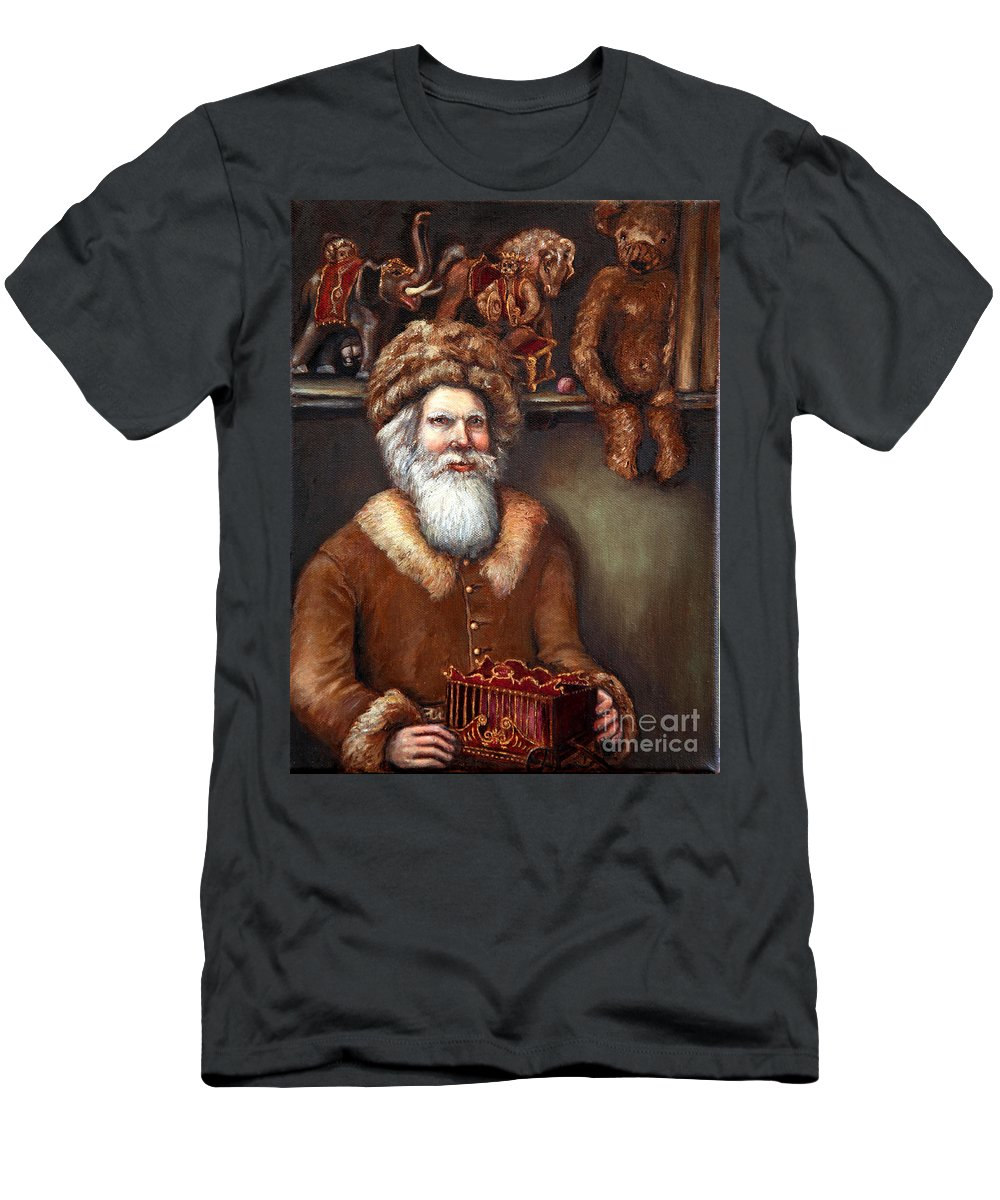 Holiday Art Men's T-Shirt (Athletic Fit) featuring the painting Santas Special Toys by Portraits By NC