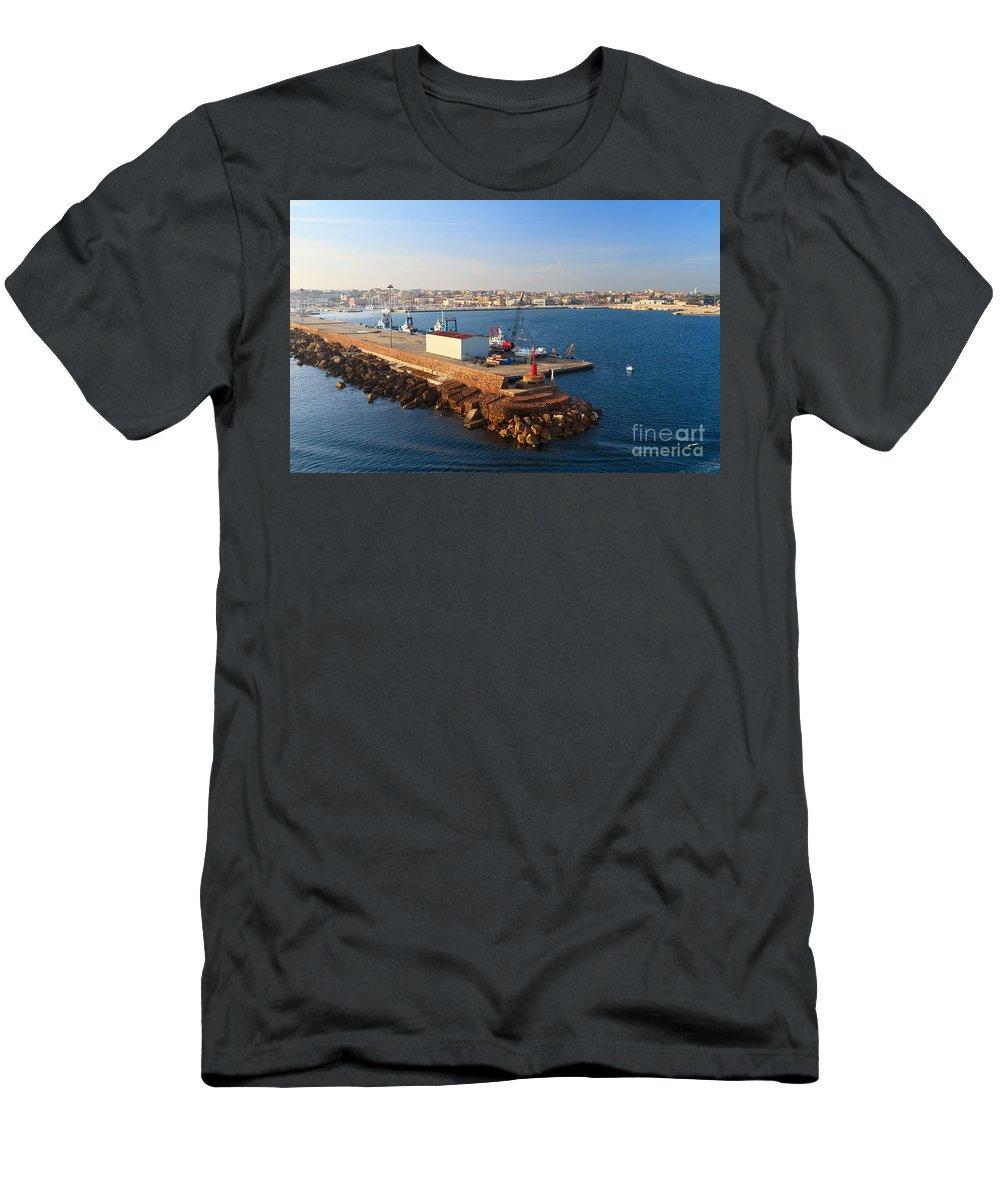 Blue Men's T-Shirt (Athletic Fit) featuring the photograph Sardinia - Porto Torres by Antonio Scarpi