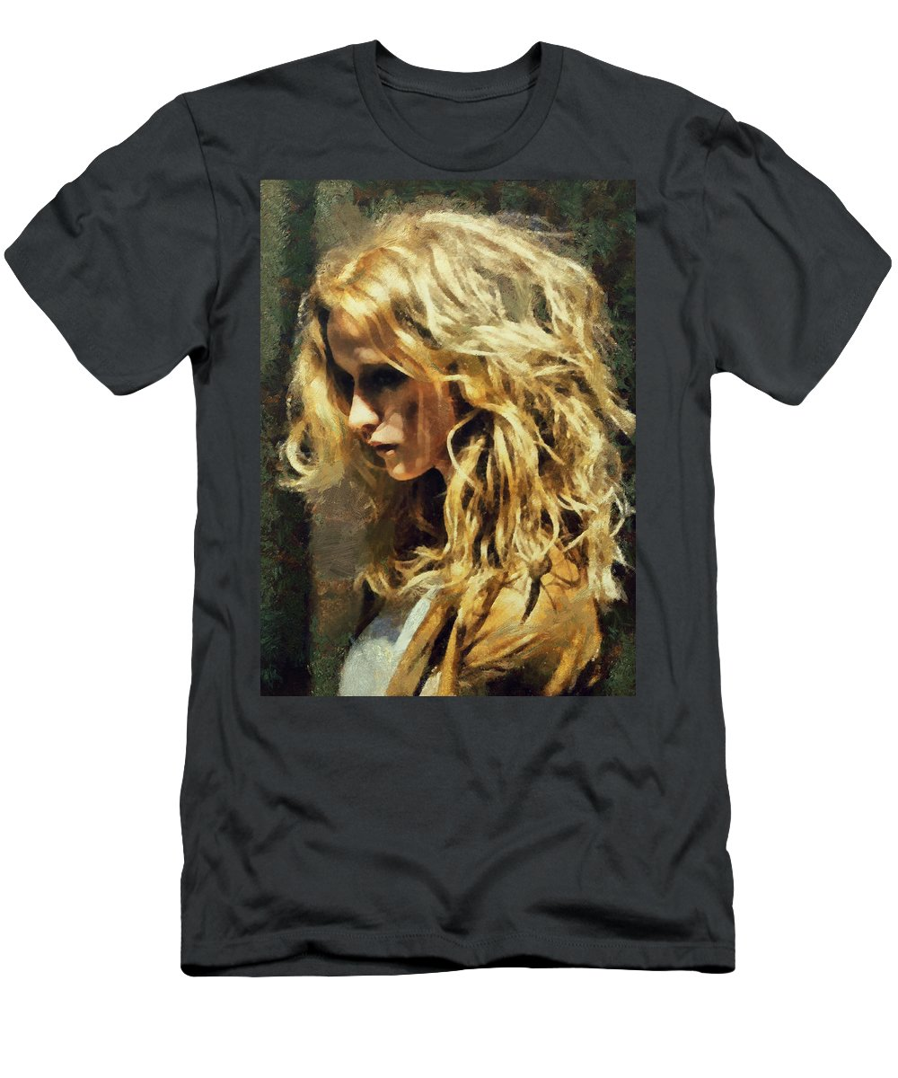 Beauty Men's T-Shirt (Athletic Fit) featuring the painting Sasha by Janice MacLellan