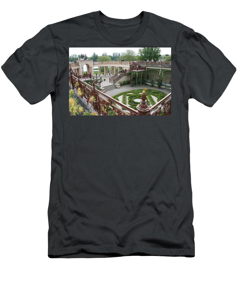 Schwerin Men's T-Shirt (Athletic Fit) featuring the photograph Schwerin The Orangery by Christiane Schulze Art And Photography
