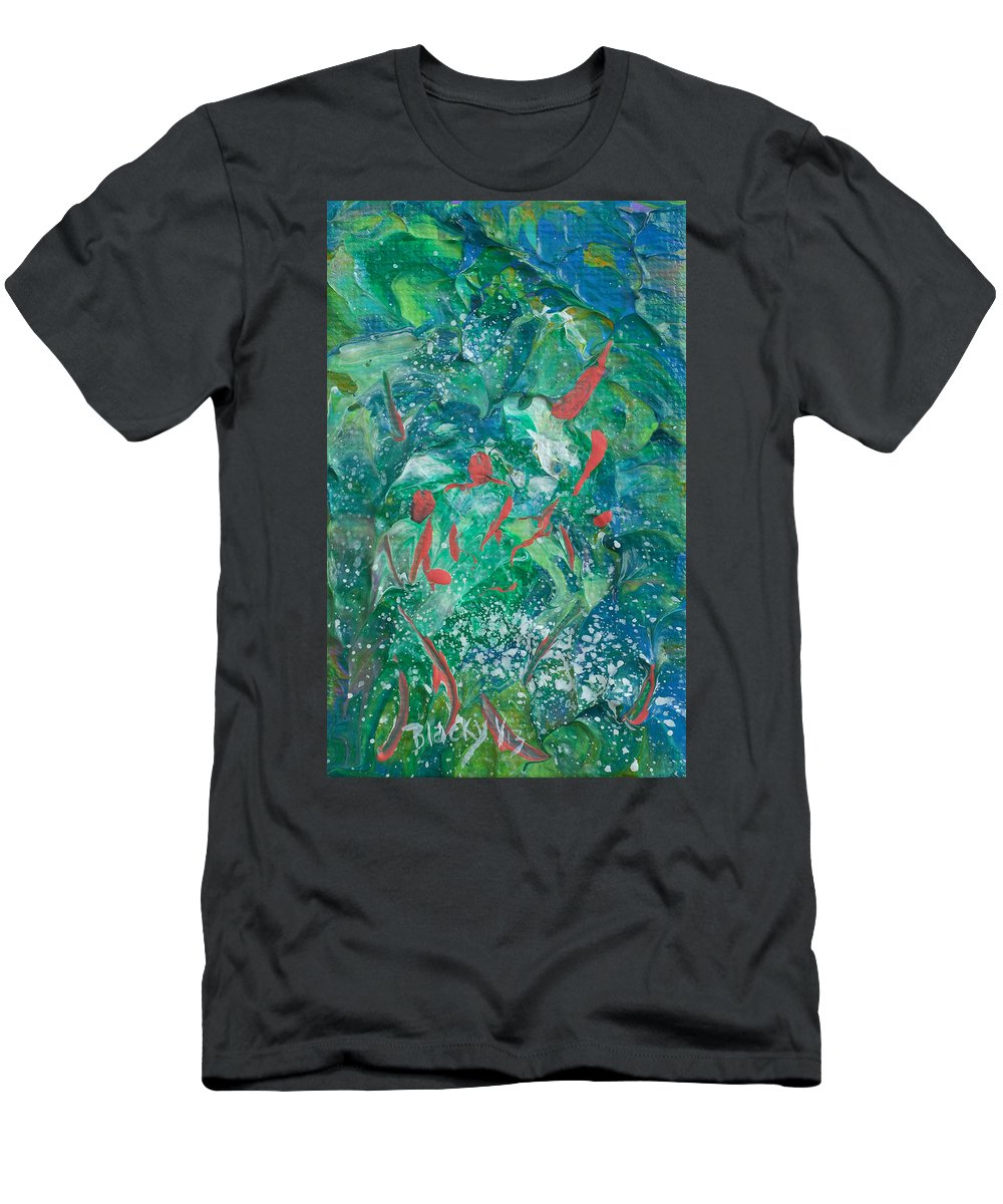 Bold Abstract Men's T-Shirt (Athletic Fit) featuring the painting Sea Coral by Donna Blackhall