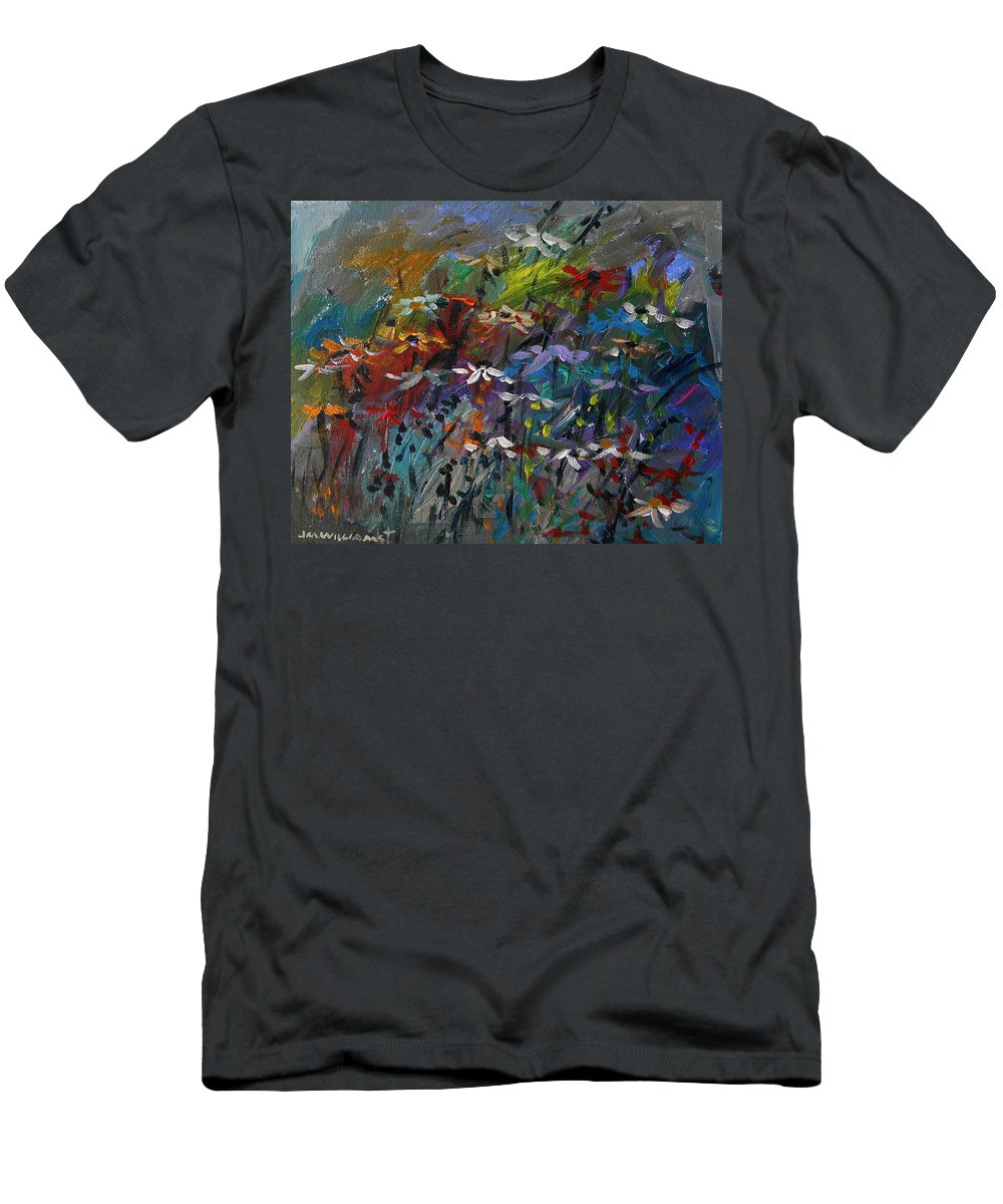 Sea Garden Men's T-Shirt (Athletic Fit) featuring the painting Sea Garden by John Williams