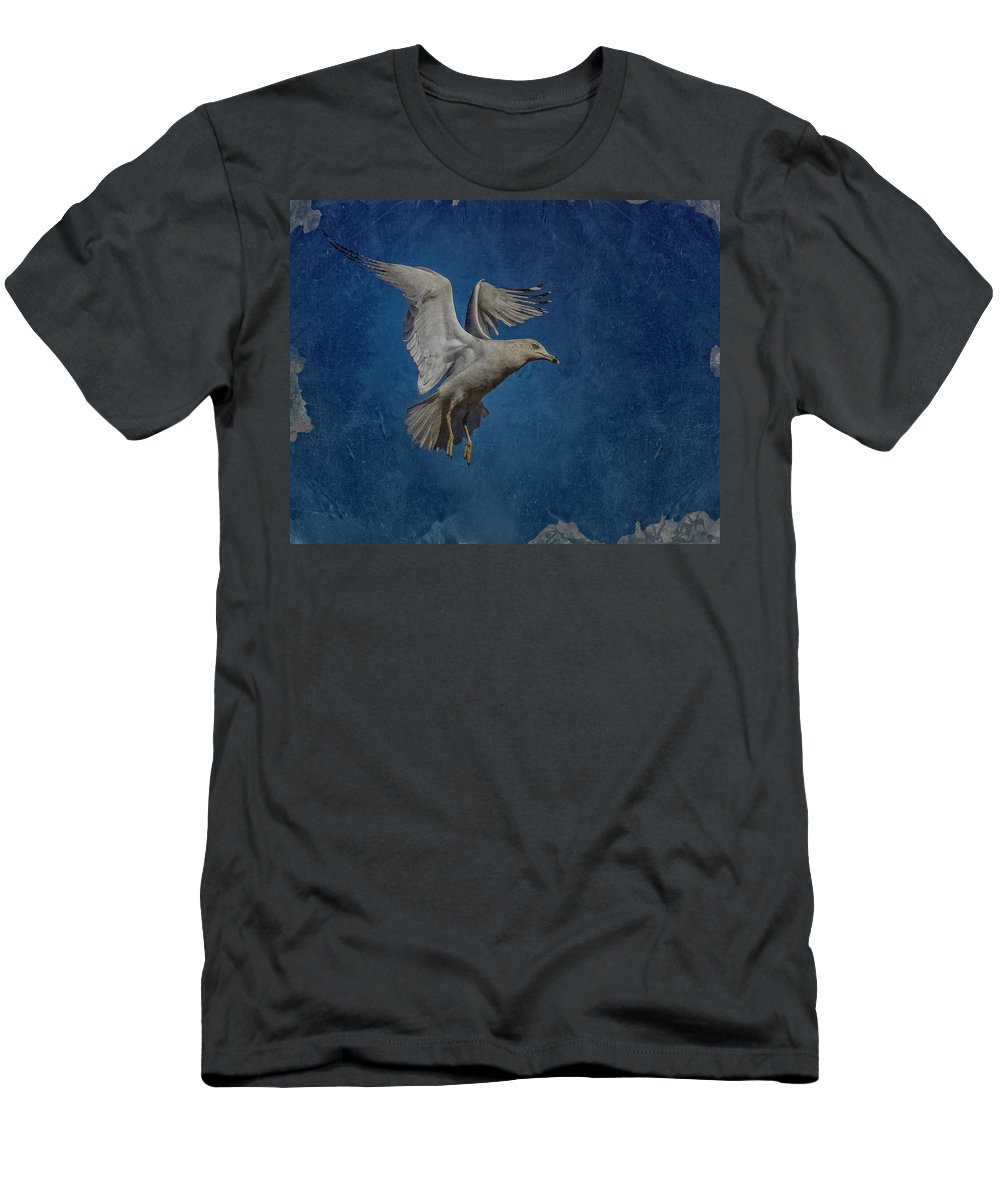 Seagull Men's T-Shirt (Athletic Fit) featuring the photograph Seagull by Ernie Echols