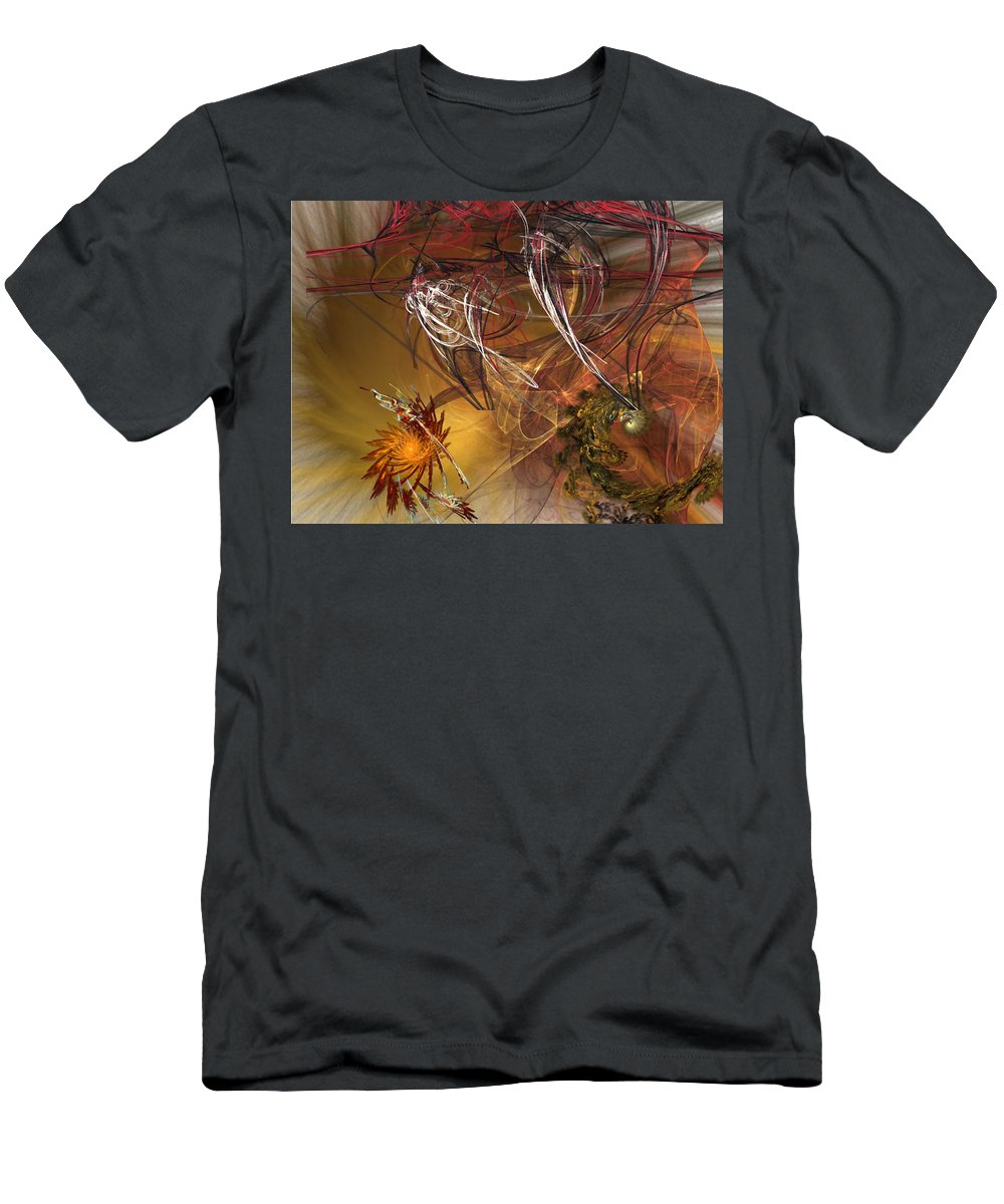 Fractal Men's T-Shirt (Athletic Fit) featuring the digital art Searching by Donna Walsh