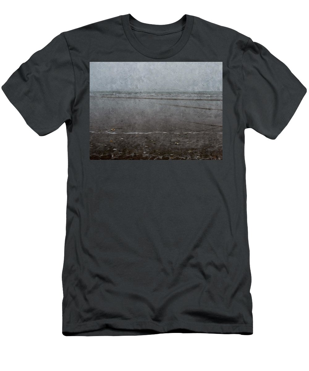Seashore Men's T-Shirt (Athletic Fit) featuring the photograph Seashore by Annie Adkins