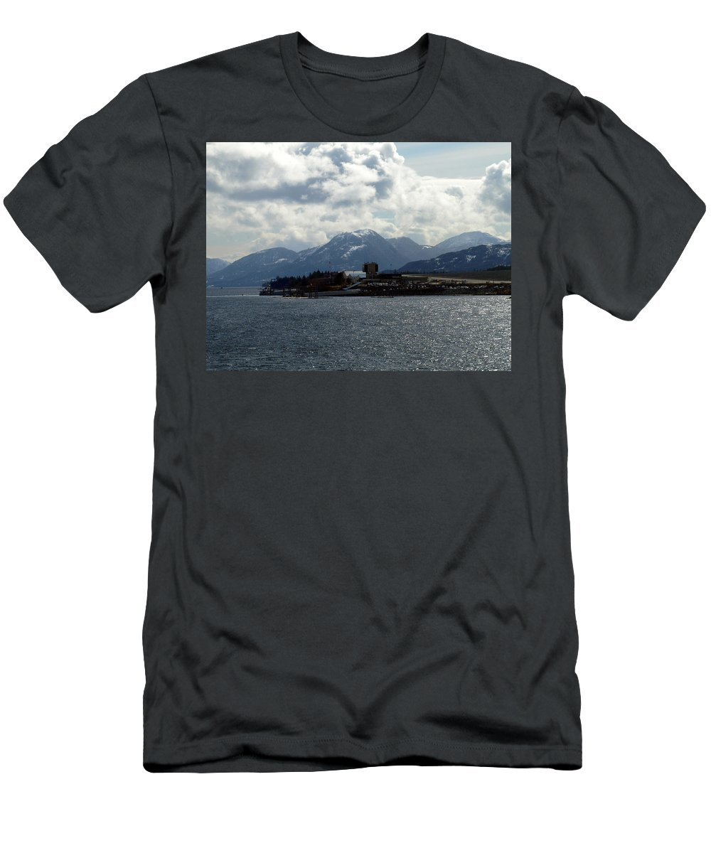 City Men's T-Shirt (Athletic Fit) featuring the photograph Seaside City by Jessica Foster