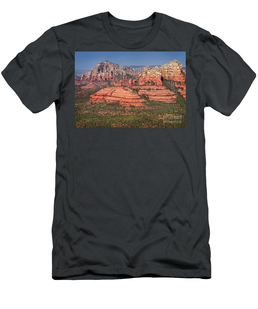 Sedona Men's T-Shirt (Athletic Fit) featuring the photograph Sedona by Claudia Kuhn