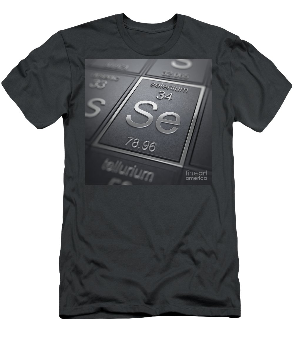 Periodic Table Men's T-Shirt (Athletic Fit) featuring the photograph Selenium Chemical Element by Science Picture Co
