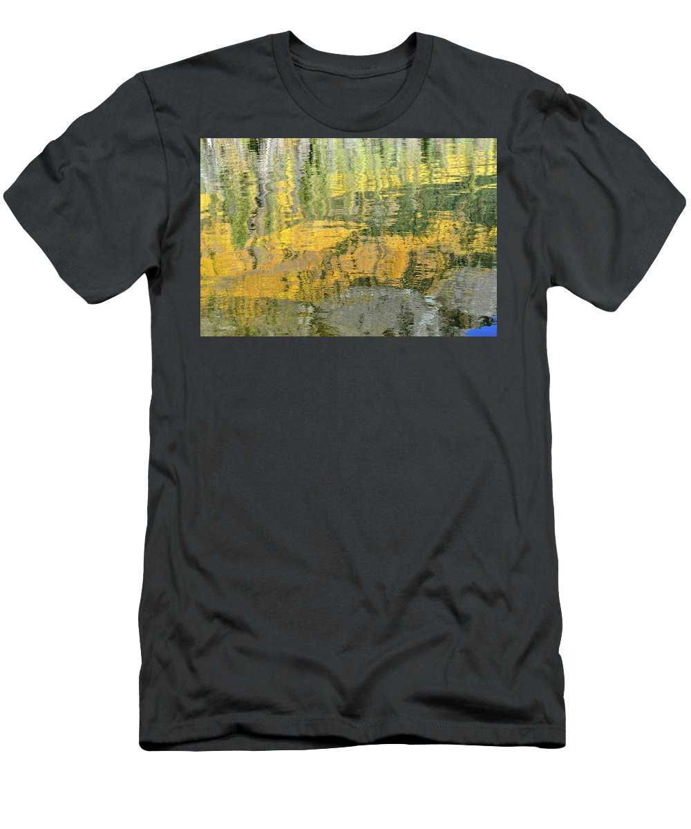 Autumn Men's T-Shirt (Athletic Fit) featuring the photograph September Reflection by Cathy Mahnke