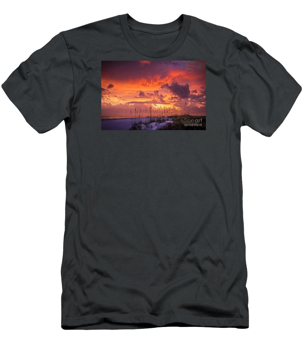 Beach Men's T-Shirt (Athletic Fit) featuring the photograph Serenity by Marvin Spates