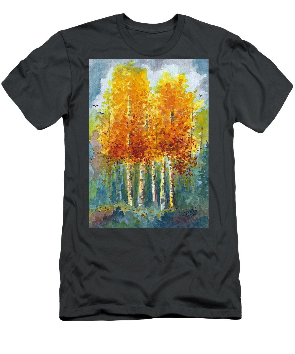 Autumn Men's T-Shirt (Athletic Fit) featuring the painting Shades Of Autumn by David G Paul