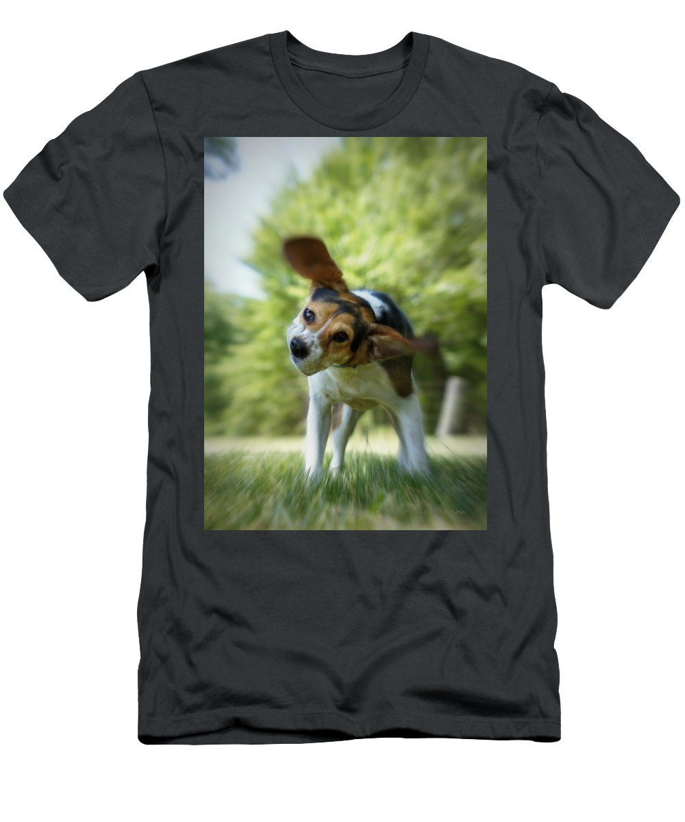 Beagle Men's T-Shirt (Athletic Fit) featuring the photograph Shake Shake Shake by Cricket Hackmann