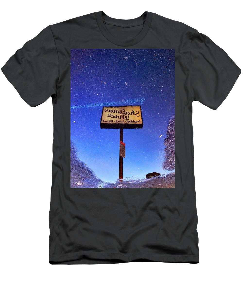 Color Men's T-Shirt (Athletic Fit) featuring the photograph Shalimar Diner by H James Hoff