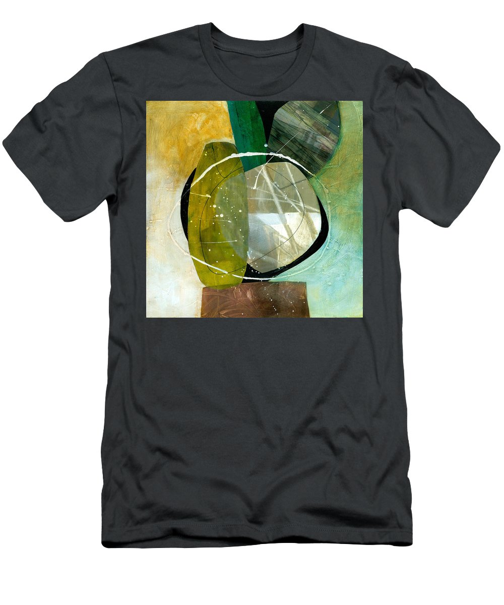 Jane Davies Men's T-Shirt (Athletic Fit) featuring the painting Shape 13 by Jane Davies
