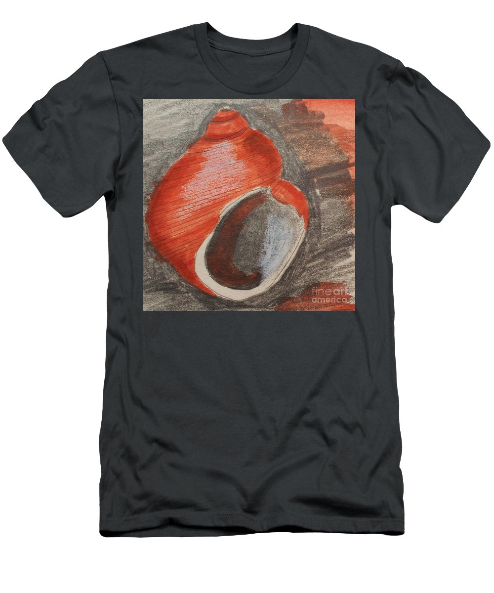 Shell Men's T-Shirt (Athletic Fit) featuring the painting Shell by Eric Schiabor