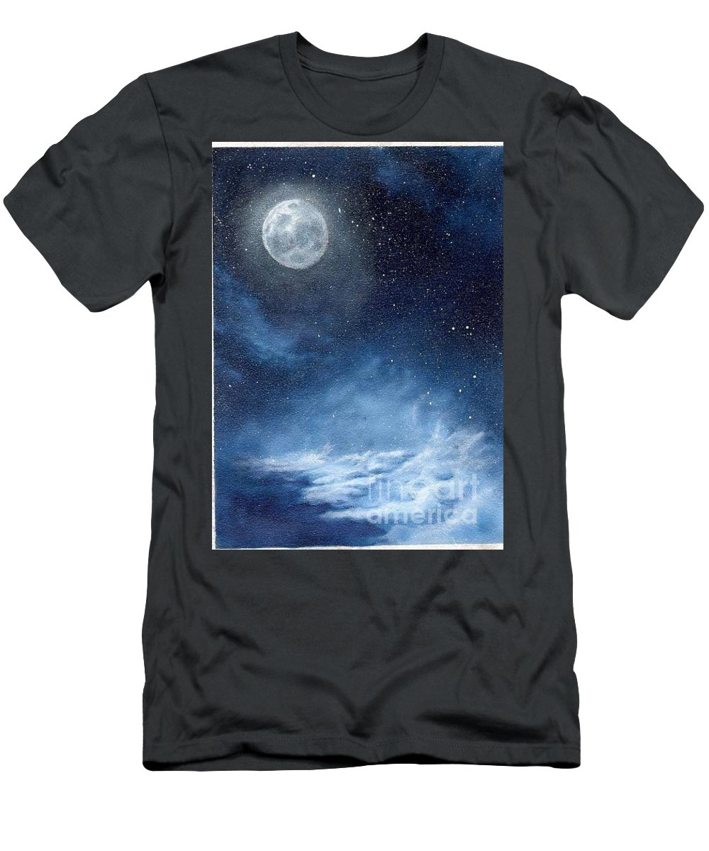 Cosmos Men's T-Shirt (Athletic Fit) featuring the painting Shimmer by Murphy Elliott