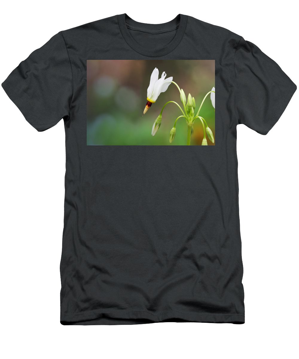 Shooting Star Men's T-Shirt (Athletic Fit) featuring the photograph Shooting Star Wildflower by Melinda Fawver
