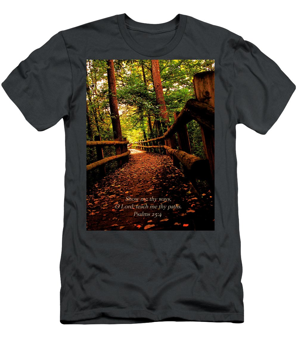 Men's T-Shirt (Athletic Fit) featuring the photograph Show Me Thy Ways by Debbie Nobile